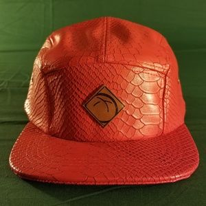 StreetBread Snakeskin Leather 5 panel red Rare